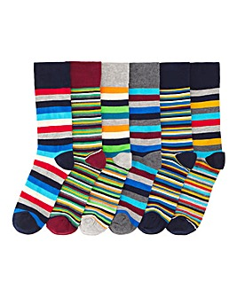 Pack of 6 Mixed Stripe Socks
