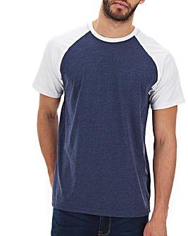 Denim/White Raglan T-Shirt Long