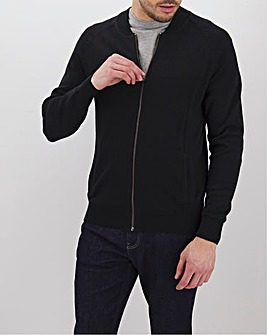 Black Cotton Bomber Long