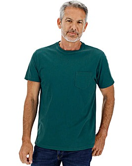 Teal Pocket Crew T-Shirt