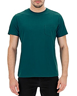 Teal Pocket Crew T-Shirt Long