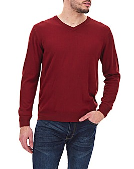 Red V Neck Jumper