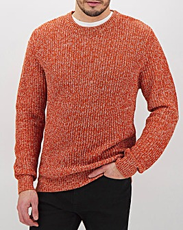 Brick Twisted Crew Neck Jumper Long