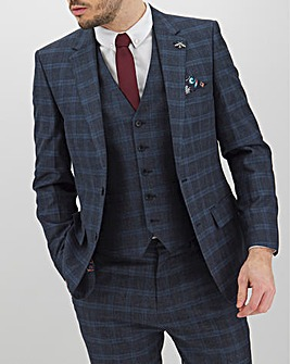 Navy Check Alfie Regular Fit Suit Jacket