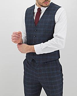 Navy Check Alfie Regular Fit Waistcoat