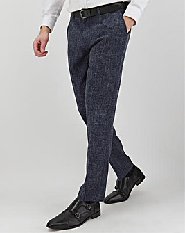 Navy Flek Textured Armstrong Regular Fit Suit Trousers