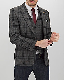 Grey Check Anthony Regular Fit Blazer