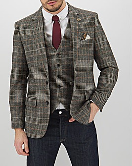 Brown Check Adrian Regular Fit Blazer