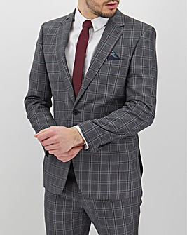 Charcoal Check Geoff Regular Suit Jacket
