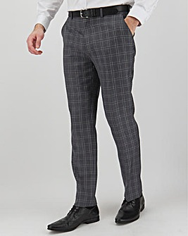 Charcoal Check Geoff Regular Fit Suit Trousers