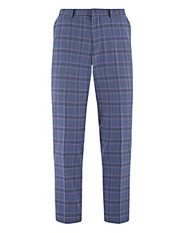 Denim Check Ricardo Regular Fit Suit Trousers
