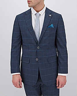 Navy Check Richard Regular Suit Jacket