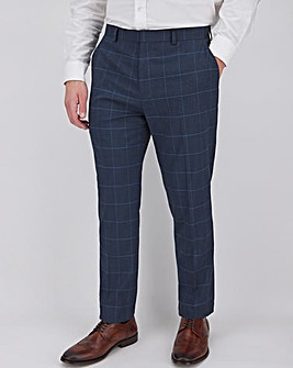 Navy Check Richard Regular Suit Trousers