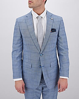 Blue Check Aaron Regular Fit Suit Jacket