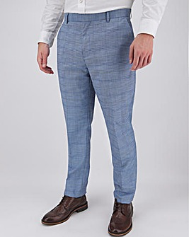 Blue Check Aaron Regular Fit Suit Trousers