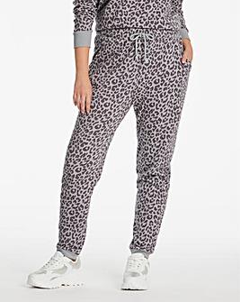 Grey Leopard Printed Jogger