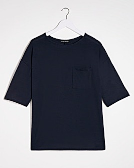 Navy Soft Touch Pocket T-Shirt