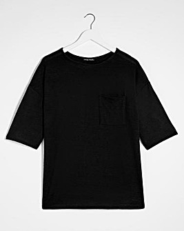 Black Soft Touch Pocket T-Shirt