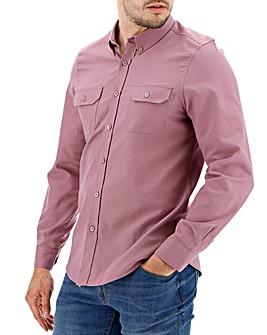 Duskypink Military Oxford Shirt Long