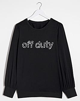 Off Duty Balloon Sleeve Sweatshirt