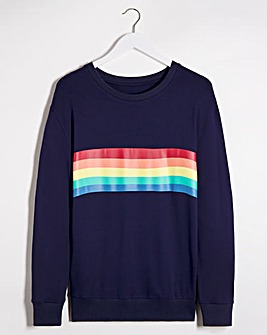 Rainbow Placement Sweatshirt