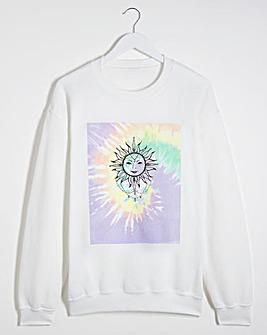 Sun Print Multi Tie-Dye Sweatshirt