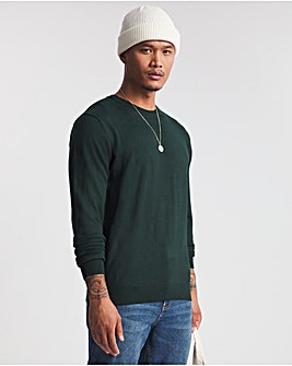 Forest Green Acrylic Crew Neck Jumper