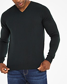 Forest Green Acrylic V Neck Sweater