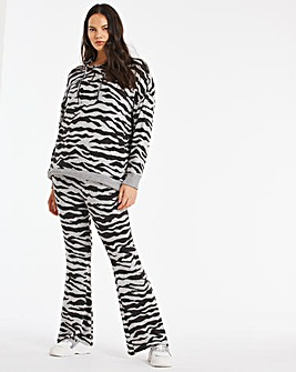 Zebra Print Soft Touch Wide Leg Trouser