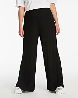 Black Super Soft Wide Leg Trousers