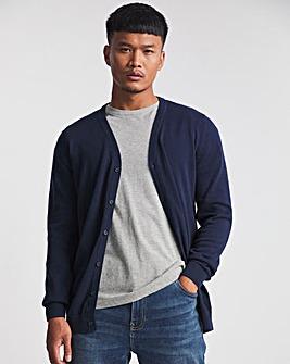 Navy Cotton Cardigan