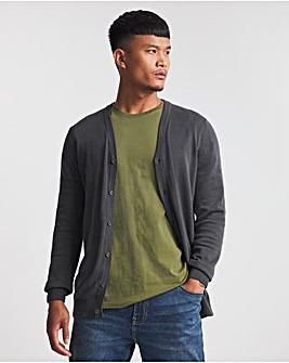 Charcoal Cotton Cardigan