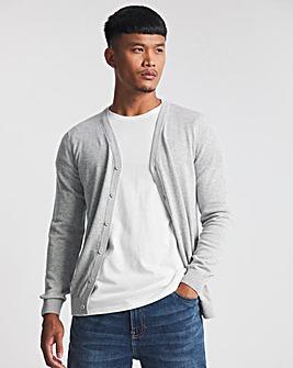 Grey Marl Cotton Cardigan