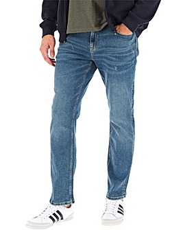 Stonewash Straight Fit Jeans