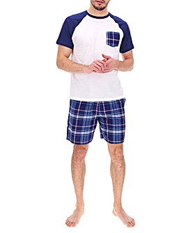 Pink Check Woven Short Pyjama Set