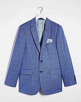 Blue Check Delta Regular Fit Suit Jacket