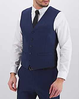James Navy Regular Fit Value Waistcoat