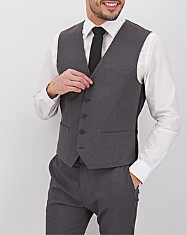 James Charcoal Regular Fit Value Waistcoat