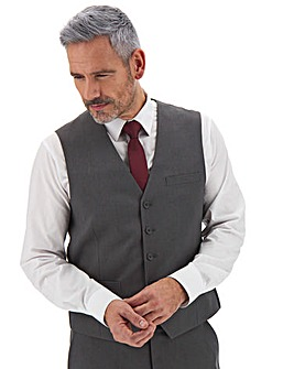 James Charcoal Regular Fit Value Waistcoat
