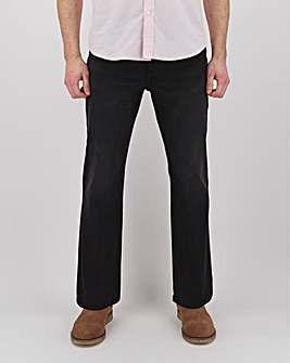 Blackwash Bootcut Fit Stretch Jeans