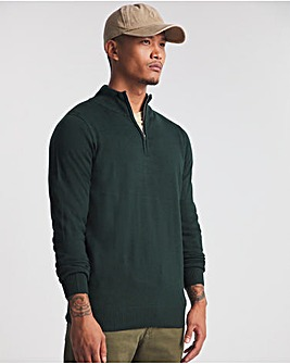 Forest Green Acrylic 1/4 Zip Funnel