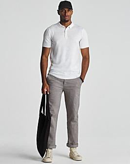 White Acrylic Short Sleeve Polo