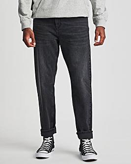 Premium Blackwash Loose Taper Fit Jean