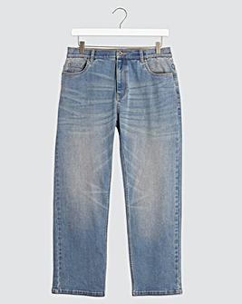 Light Stonewash Loose Fit Stretch Jeans