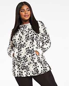 Animal Print Better Sweat Tunic