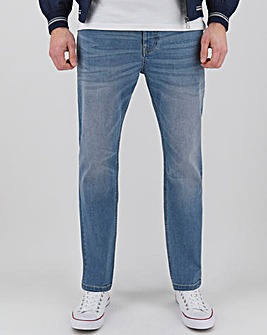 Light Stonewash Straight Stretch Jeans
