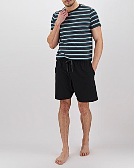 Green Stripe T-Shirt and Short Set