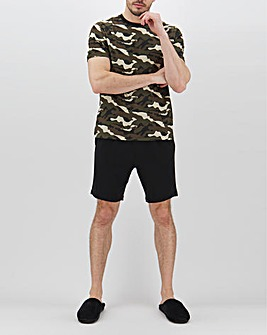 Black/Camo T-Shirt and Short Set