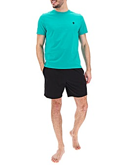 Green/Black T-Shirt and Short Set