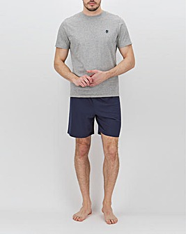 Grey/Navy T-Shirt and Short Set